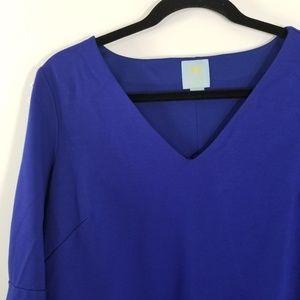 CeCe Dresses - CeCe Size 10 Royal Blue Bell Sleeve Dress 0147